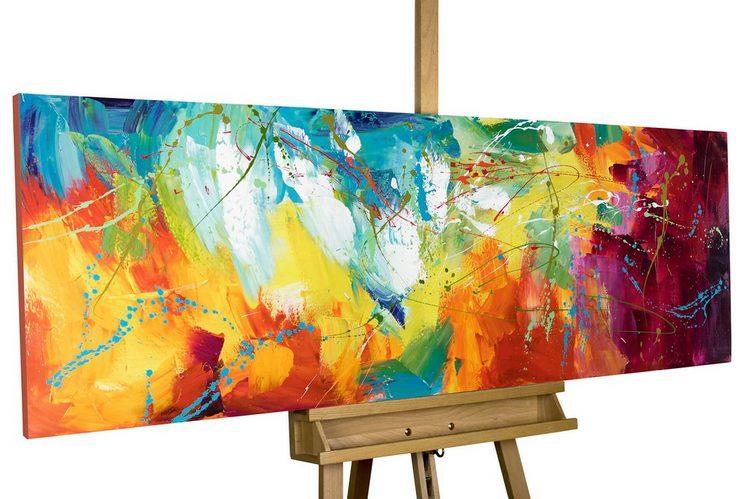 KUNSTLOFT Gemälde »Bright Future«, handgemaltes Bild auf Leinwand