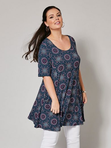 Sara Lindholm by Happy Size Tunika mit Allover-Print