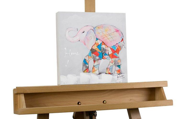 KUNSTLOFT Kunstdruck »Der erste Schultag«, handbemaltes Wandbild auf Leinwand