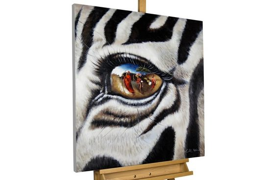 KUNSTLOFT Gemälde »Stilles Gewissen«, handgemaltes Bild auf Leinwand