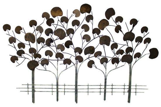 KUNSTLOFT Metallbild »Serenade der Bäume«, handgefertigte Wanddekoration aus Metall