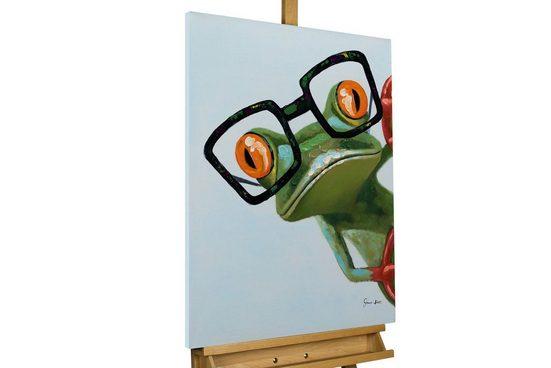 KUNSTLOFT Gemälde »Funky Frog«, handgemaltes Bild auf Leinwand