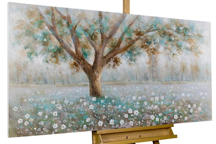 KUNSTLOFT Gemälde »Baumflüstern«, handgemaltes Bild auf Leinwand