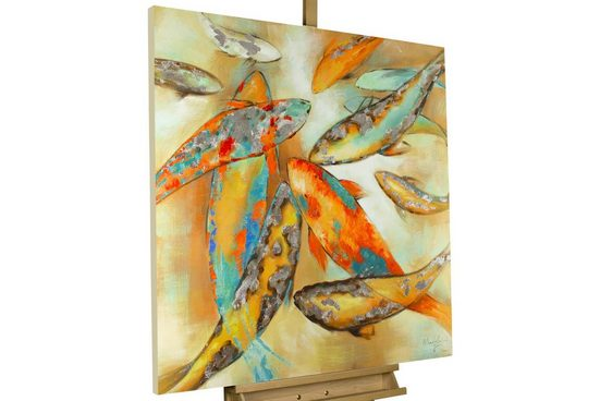KUNSTLOFT Gemälde »Der Koi«, handgemaltes Bild auf Leinwand