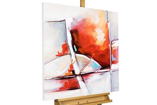 KUNSTLOFT Gemälde »Zerbrochen«, handgemaltes Bild auf Leinwand
