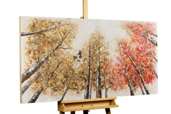 KUNSTLOFT Gemälde »Magie im Wald«, handgemaltes Bild auf Leinwand
