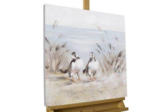 KUNSTLOFT Gemälde »Nur im Doppelpack«, handgemaltes Bild auf Leinwand