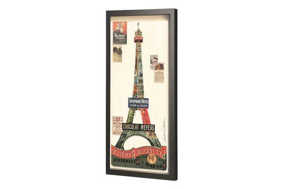KUNSTLOFT Bilder-Collage »Paris 1889«, trendiges Frame Art 3D Bild