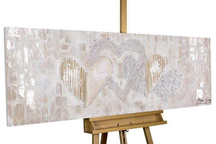KUNSTLOFT Gemälde »Simply Love«, handgemaltes Bild auf Leinwand