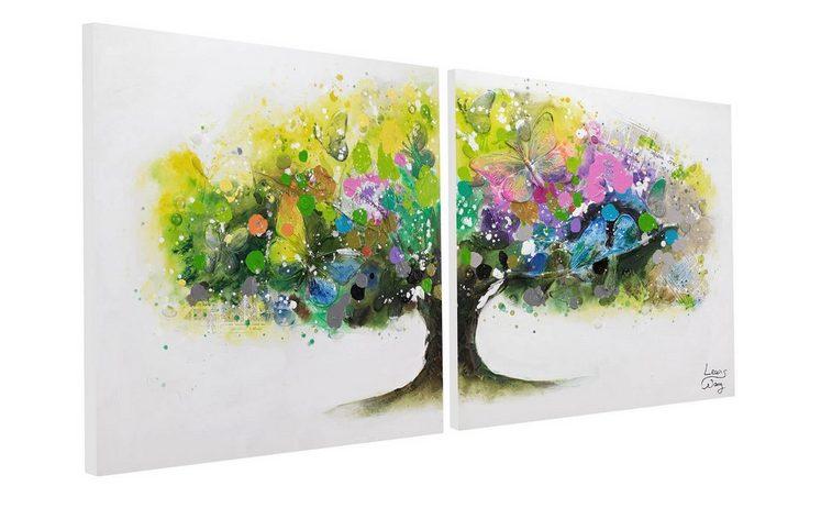 KUNSTLOFT Gemälde »Regenbogenbaum«, handgemaltes Bild auf Leinwand