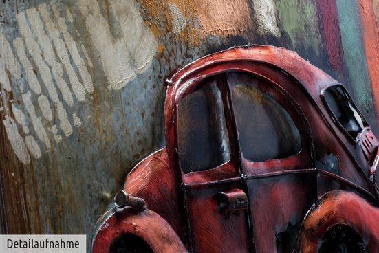 KUNSTLOFT Metallbild »Beetle Love«  handgefertiges Wandrelief 3D