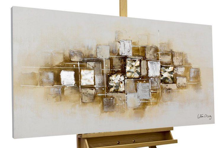 KUNSTLOFT Gemälde »Slick as a Brick«, handgemaltes Bild auf Leinwand