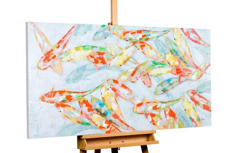 KUNSTLOFT Gemälde »Nearly Transparent«, handgemaltes Bild auf Leinwand