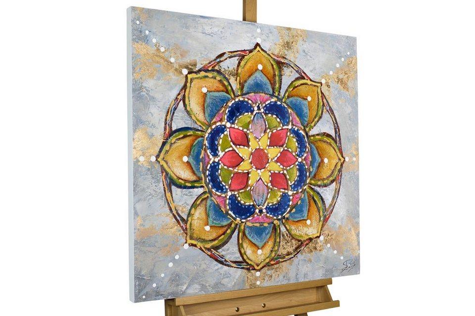 kunstloft gemälde »mandala love« handgemaltes bild auf