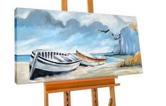 KUNSTLOFT Gemälde »Quality Time«, handgemaltes Bild auf Leinwand