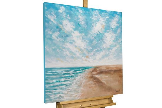 KUNSTLOFT Gemälde »Tropical Vibes«, handgemaltes Bild auf Leinwand