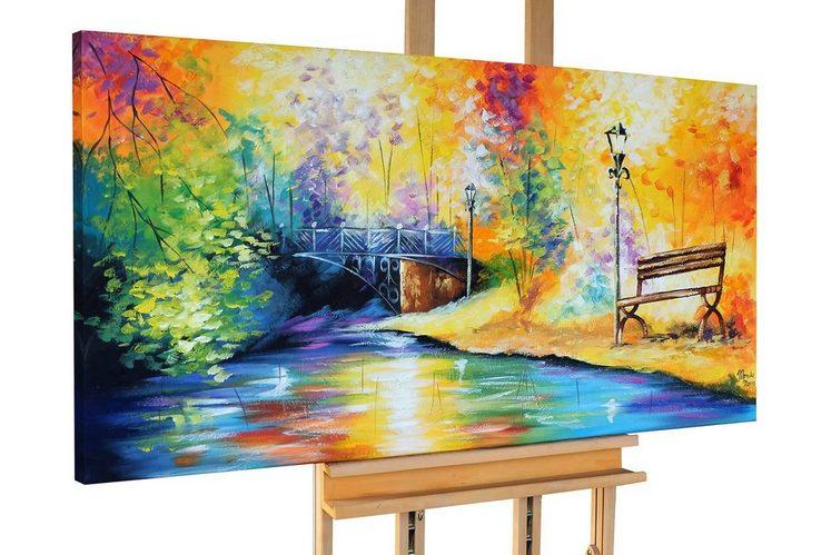 KUNSTLOFT Gemälde »Wonderland«, handgemaltes Bild auf Leinwand
