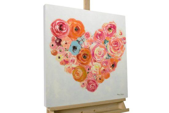 KUNSTLOFT Kunstdruck »Bouquet of Love«, handbemaltes Wandbild auf Leinwand