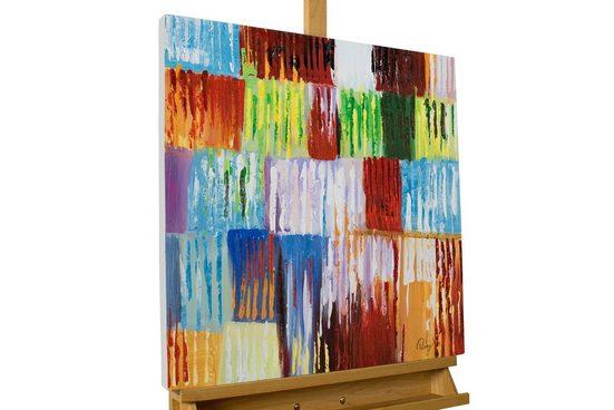 KUNSTLOFT Gemälde »Rainbow Vibes«, handgemaltes Bild auf Leinwand
