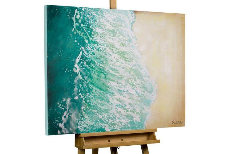 KUNSTLOFT Gemälde »Sommer in Ibiza«, handgemaltes Bild auf Leinwand