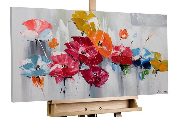 KUNSTLOFT Gemälde »Finally Spring«, handgemaltes Bild auf Leinwand