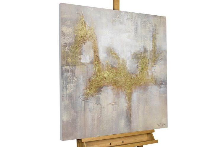 KUNSTLOFT Gemälde »Goldene Flügel«, handgemaltes Bild auf Leinwand
