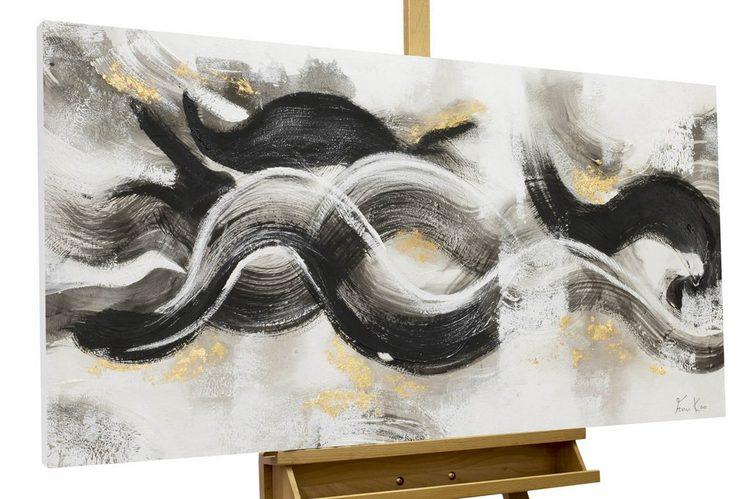 KUNSTLOFT Gemälde »Infinite Waves«, handgemaltes Bild auf Leinwand