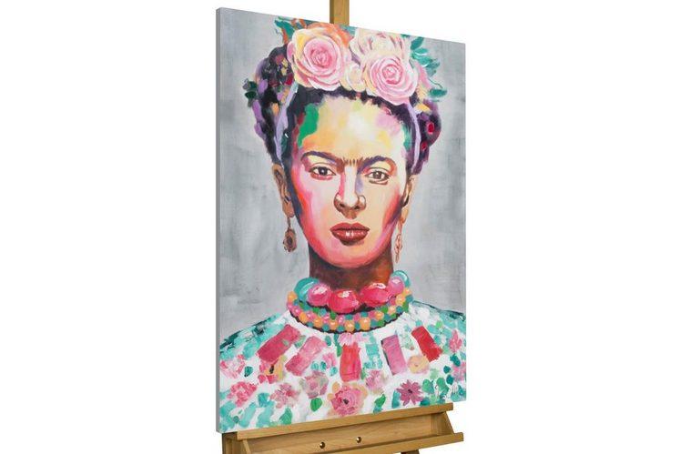 KUNSTLOFT Gemälde »Frida«, handgemaltes Bild auf Leinwand