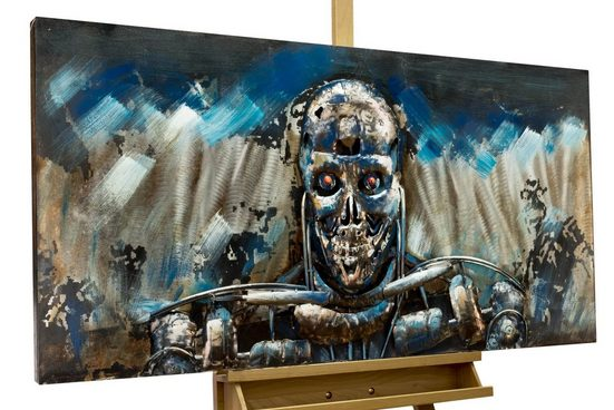 KUNSTLOFT Metallbild »Terminator«, handgefertiges Wandrelief 3D
