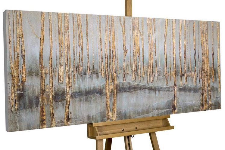 KUNSTLOFT Gemälde »Mystischer Wald«, handgemaltes Bild auf Leinwand