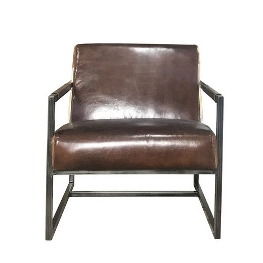 KAWOLA Sessel Vintage-Leder dunkelbraun »LIANO«