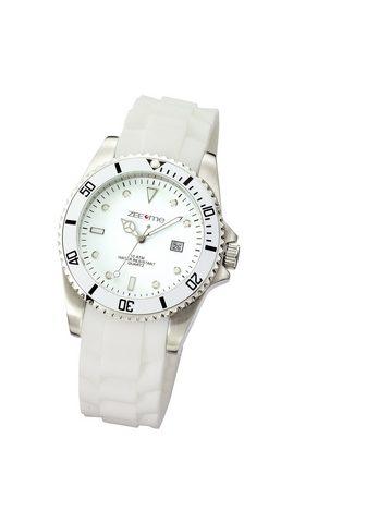 ZEEME Часы weiß Silikon Datumsanzeige