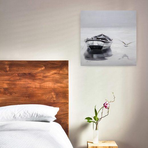 KUNSTLOFT Gemälde »Peace and Quiet«  handgemaltes Bild auf Leinwand