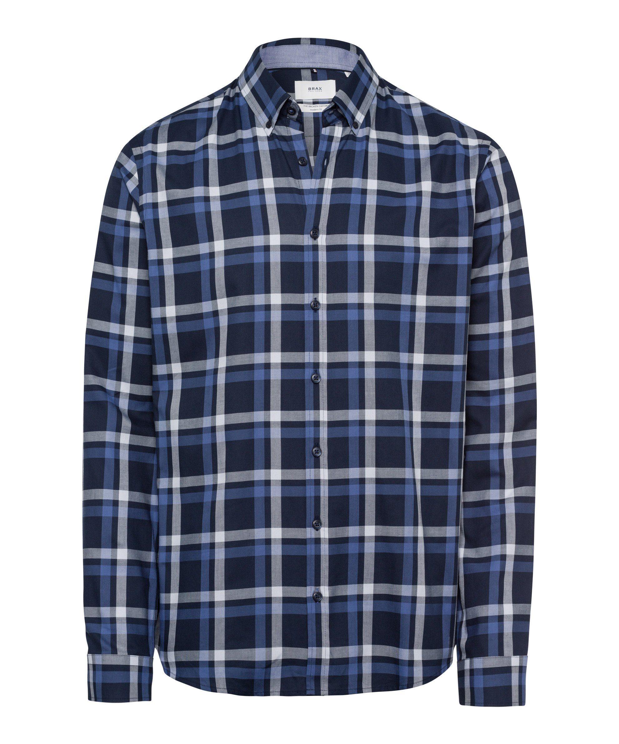 Brax Hemd »Style Daniel«, Hemd mit Button Down Kragen und herbstlichem Karomuster online kaufen | OTTO