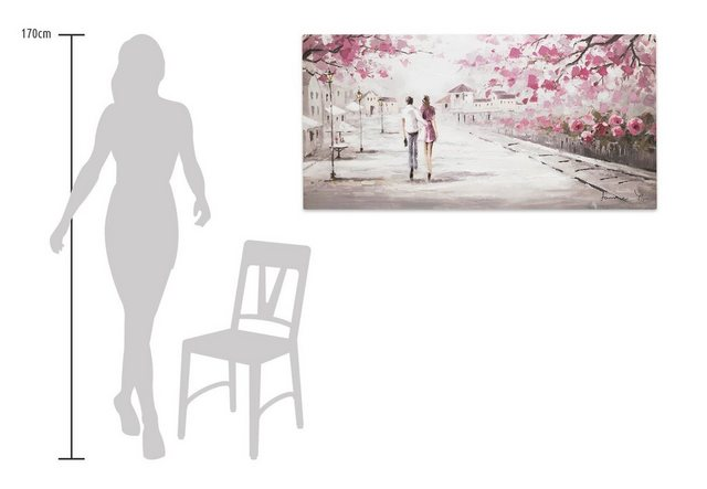 KUNSTLOFT Gemälde »First Date«, handgemaltes Bild auf Leinwand | Dekoration > Bilder und Rahmen > Bilder | KUNSTLOFT