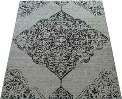 Teppich »Coco 202«, Paco Home, rechteckig, Höhe 4 mm, Flachgewebe, In- und Outdoor geeignet, Wohnzimmer
