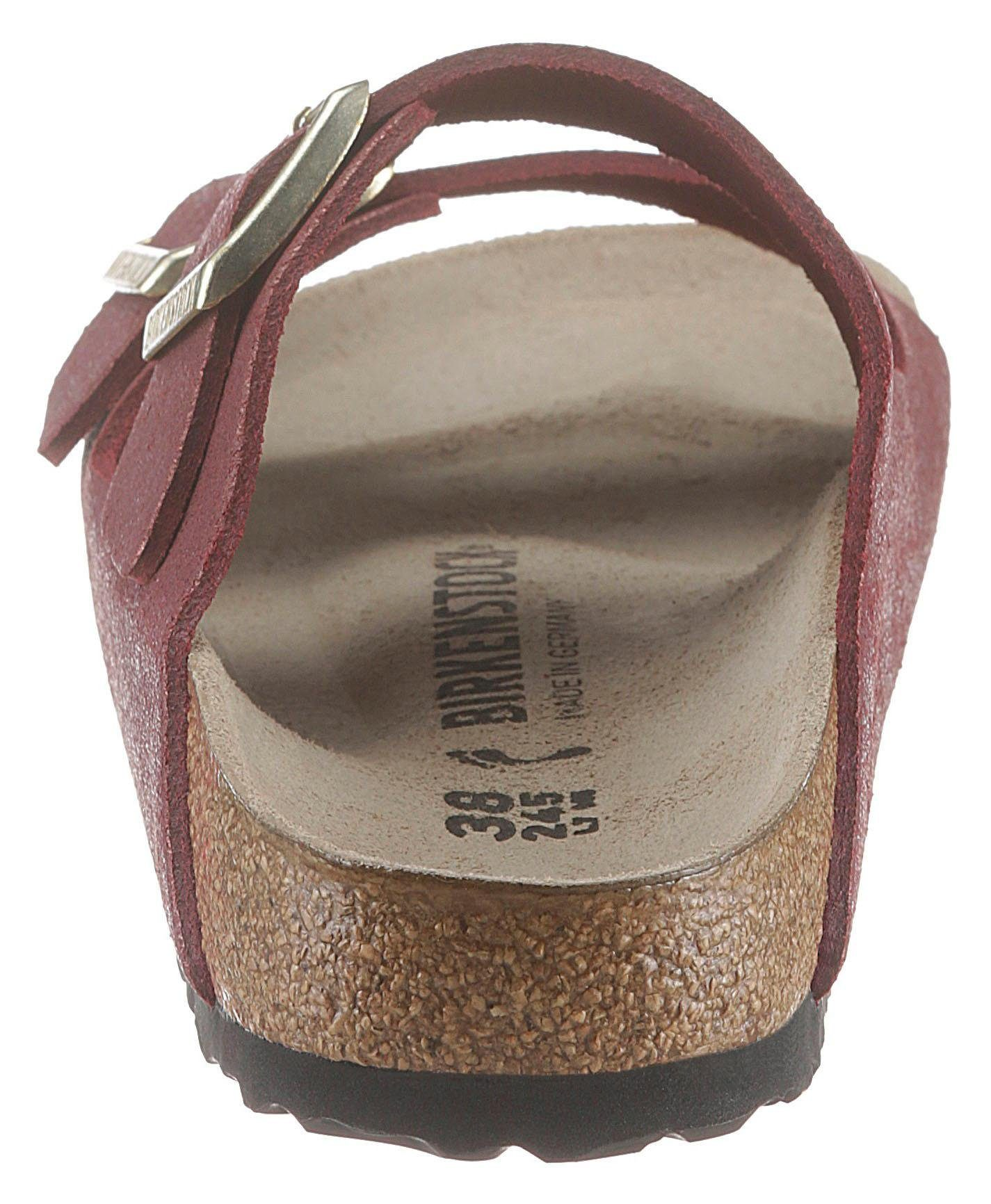 Und Metallic« Birkenstock Im »arizona Online Schuhweite Pantolette Kaufen Metallic Schmaler Washed look 8k0NXwPnO