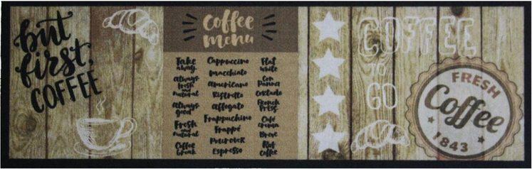 Küchenläufer »FIRST COFFEE«, Primaflor-Ideen in Textil, rechteckig, Höhe 5 mm