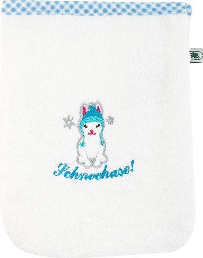 ADELHEID Waschlappen »Schneehase Waschlappen« (3-tlg), mit Paspel und Stickerei