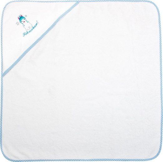 ADELHEID Kapuzenhandtuch »Schneehase Kapuzenhandtuch« (1-St), mit Paspel und Stickerei