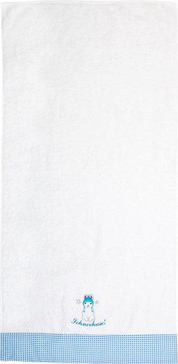 ADELHEID Handtücher »Schneehase Handtuch« (2-St), mit Bordüre und Stickerei