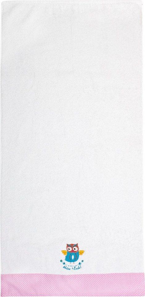 on sale 25f93 12a38 Handtücher »Kleine Eule Handtuch«, ADELHEID, mit Bordüre und Stickerei  online kaufen | OTTO