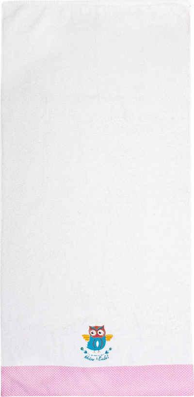 ADELHEID Handtücher »Kleine Eule Handtuch« (2-St), mit Bordüre und Stickerei