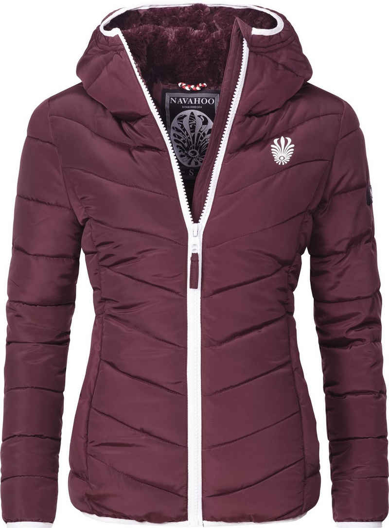 Navahoo Steppjacke »Elva« stylische Damen Winterjacke mit Kapuze