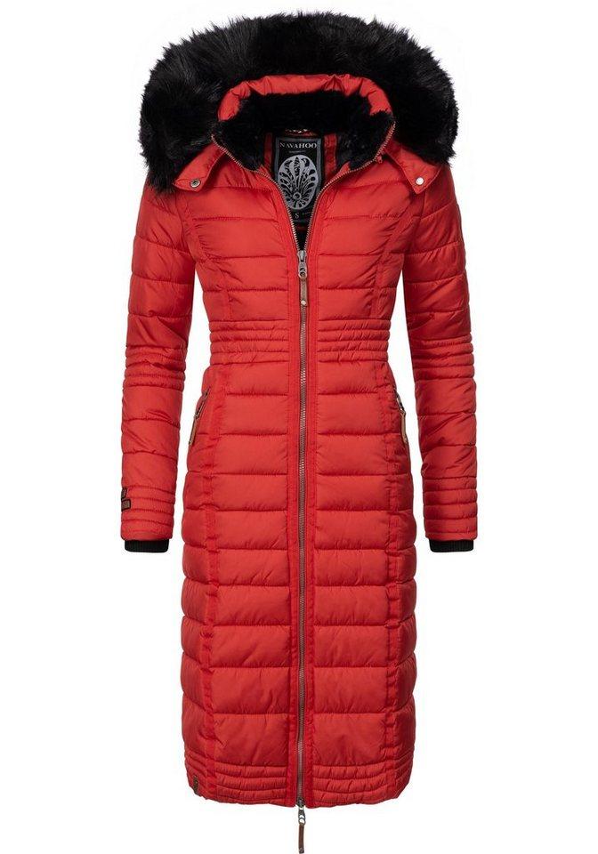 quality design 9a6c8 97ba9 Navahoo Wintermantel »Umay« langer Damen Winter Steppmantel mit  Kunstfellkapuze online kaufen | OTTO