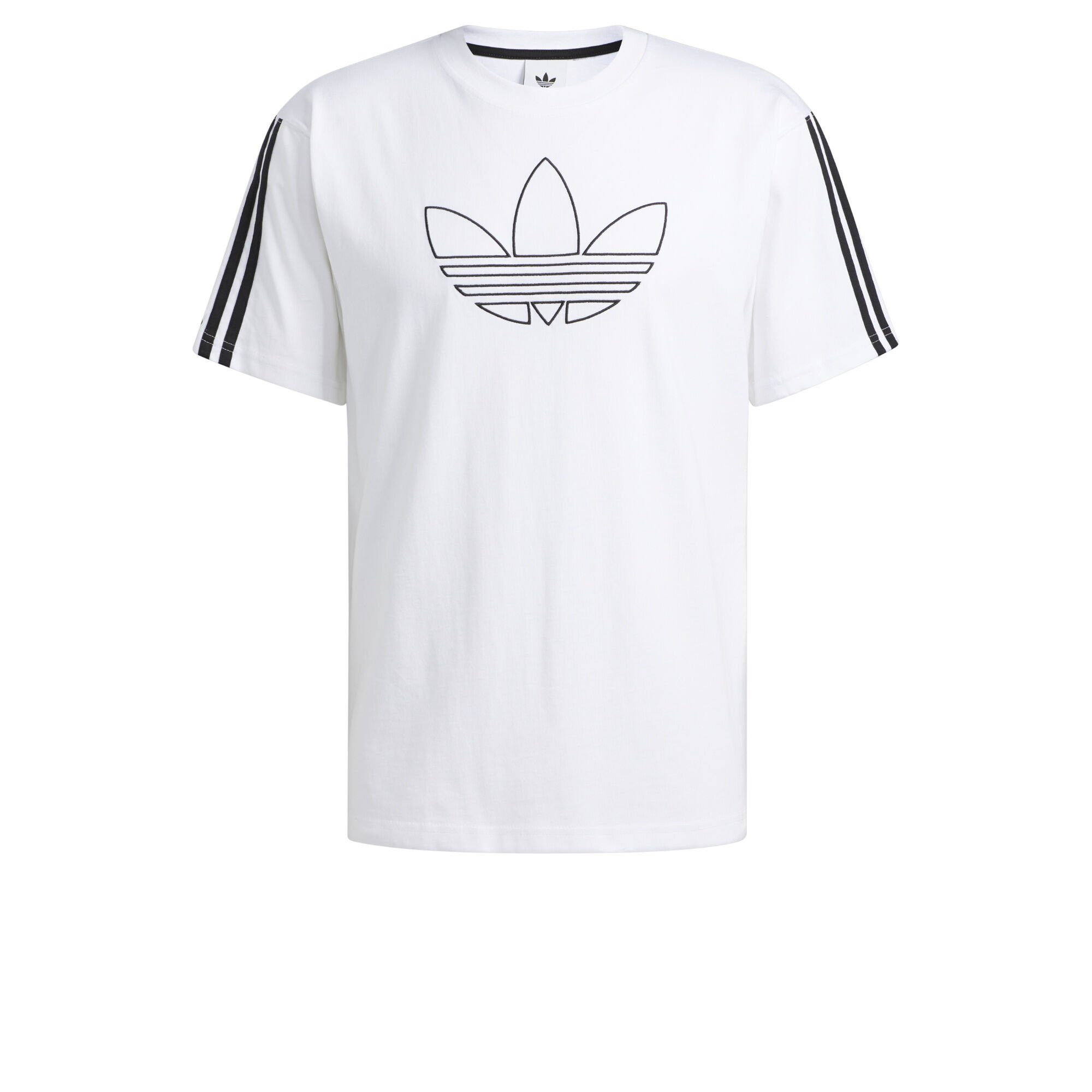 adidas Originals White Outline Trefoil T Shirt