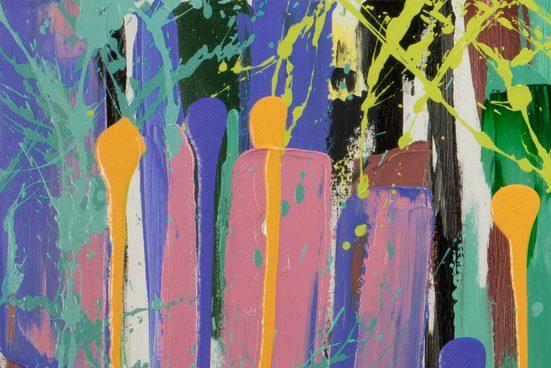 KUNSTLOFT Gemälde »Kunterbunte Ära«  handgemaltes Bild auf Leinwand