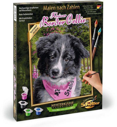 Schipper Malen nach Zahlen »Meisterklasse Klassiker - Border Collie Puppy«, Made in Germany