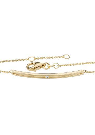 Firetti Armband »Ankerkettengliederung, glanz, massiv« mit Brillant