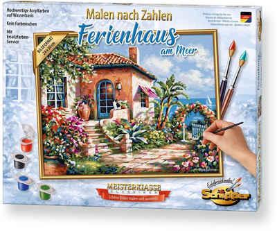 Schipper Malen nach Zahlen »Meisterklasse Premium - Ferienhaus am Meer«, Made in Germany